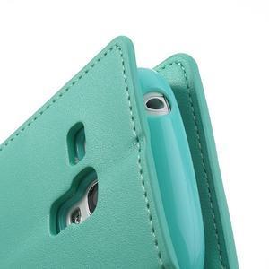 Diary PU kožené puzdro pre Samsung Galaxy S3 mini - azúrové - 7