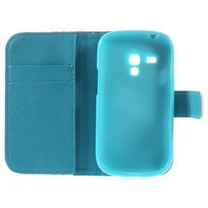 Knížkové puzdro pre mobil Samsung Galaxy S3 mini - tlapky - 7