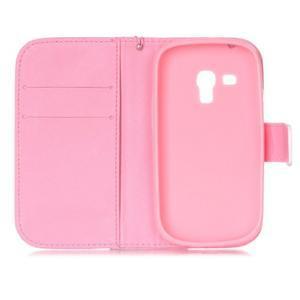 Knížkové PU kožené puzdro pre Samsung Galaxy S3 mini - sexy pery - 7