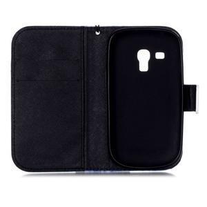 Knížkové PU kožené pouzdro na Samsung Galaxy S3 mini - nedotýkat se - 7