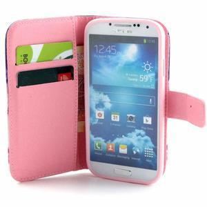 Standy peňaženkové puzdro pre Samsung Galaxy S4 - soví strom - 7