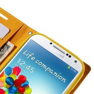 Sunny PU kožené puzdro pre mobil Samsung Galaxy S4 - zelené - 7