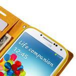 Sunny PU kožené puzdro pre mobil Samsung Galaxy S4 - zelené - 7/7