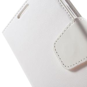 Diary PU kožené puzdro pre mobil Samsung Galaxy S4 - biele - 7