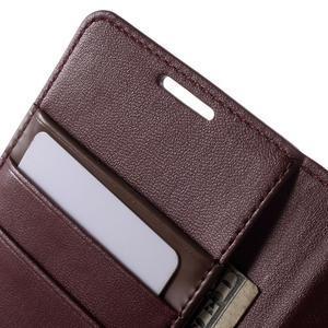 Diary PU kožené pouzdro na mobil Samsung Galaxy S4 - vínové - 7