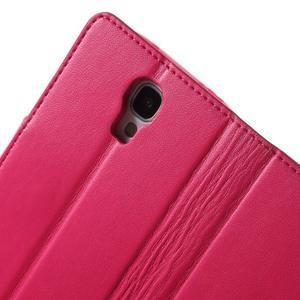 Diary PU kožené pouzdro na mobil Samsung Galaxy S4 - rose - 7