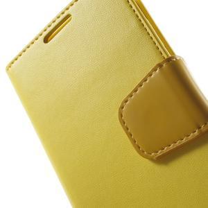 Diary PU kožené puzdro pre mobil Samsung Galaxy S4 - žlté - 7