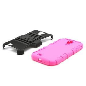 Odolný ochranný silikonový kryt na Samsung Galaxy S4 - rose - 7