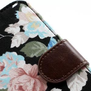 Květinové pouzdro na mobil Samsung Galaxy S4 - černé pozadí - 7
