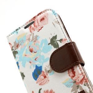 Kvetinové puzdro pre mobil Samsung Galaxy S4 - biele pozadie - 7