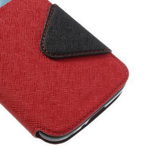 Okýnkové peňaženkové puzdro pre mobil Samsung Galaxy S4 - červené - 7