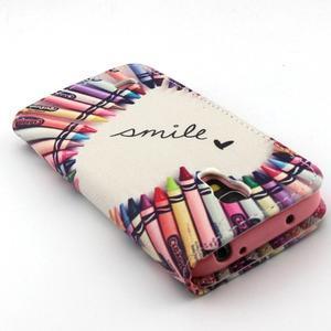 Diaryleather puzdro pre mobil Samsung Galaxy S4 mini - smile - 7