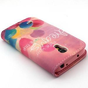 Diaryleather pouzdro na mobil Samsung Galaxy S4 mini - balónky - 7