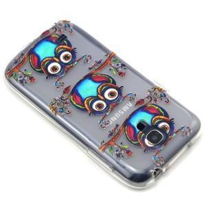 Transparentný gélový obal pre Samsung Galaxy S4 mini - sovičky - 7