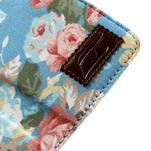 Kvetinkové puzdro pre mobil Samsung Galaxy S4 mini - modré pozadie - 7/7