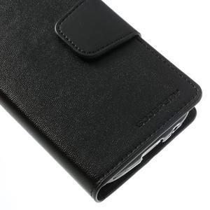 Sonata PU kožené pouzdro na mobil Samsung Galaxy S4 mini - černé - 7