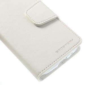 Sonata PU kožené pouzdro na mobil Samsung Galaxy S4 mini - bílé - 7