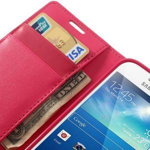 Sonata PU kožené pouzdro na mobil Samsung Galaxy S4 mini - rose - 7