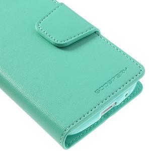 Sonata PU kožené pouzdro na mobil Samsung Galaxy S4 mini - azurové - 7