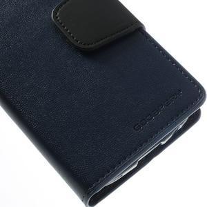 Sonata PU kožené puzdro pre mobil Samsung Galaxy S4 mini - tmavomodré - 7