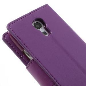 Sonata PU kožené pouzdro na mobil Samsung Galaxy S4 mini - fialové - 7
