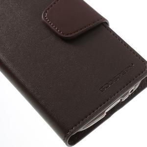 Sonata PU kožené puzdro pre mobil Samsung Galaxy S4 mini - hnedé - 7