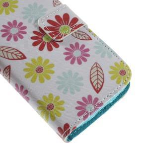 Style peňaženkové puzdro pre Samsung Galaxy S4 mini - kvetinky - 7