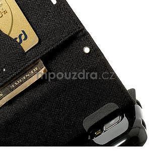 Diary peňaženkové puzdro pre Samsung Galaxy S5 - čierne - 7