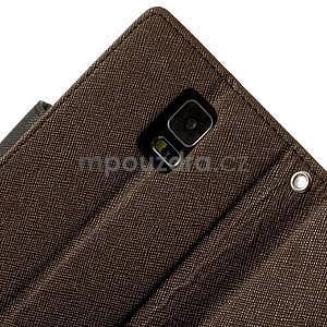 Diary peňaženkové puzdro pre Samsung Galaxy S5 - hnedé - 7