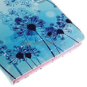 Ochranné koženkové puzdro na Samsung Galaxy Tab E 9.6 - modrá púpava - 7