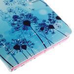 Ochranné koženkové puzdro na Samsung Galaxy Tab E 9.6 - modrá púpava - 7/7