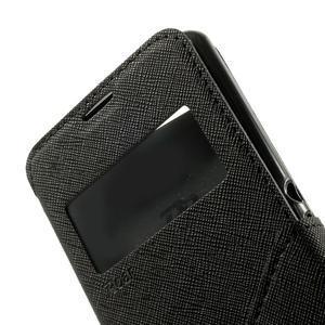 Peněženkové pouzdro s okýnkem na Sony Xperia E3 - černé - 7
