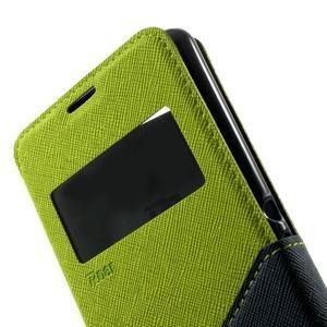 Peňaženkové puzdro s okienkom na Sony Xperia E3 - zelené - 7