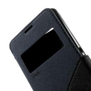 Peňaženkové puzdro s okienkom na Sony Xperia E3 - tmavomodré - 7