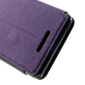 Peňaženkové puzdro s okienkom na Sony Xperia E3 - fialové - 7