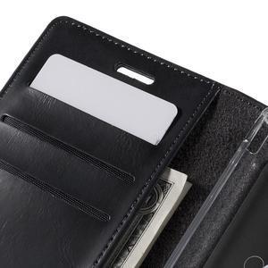 Moons PU kožené klopové puzdro pre Sony Xperia M4 Aqua - čierne - 7