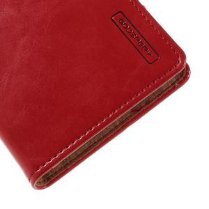 Moons PU kožené klopové pouzdro na Sony Xperia M4 Aqua - červené - 7
