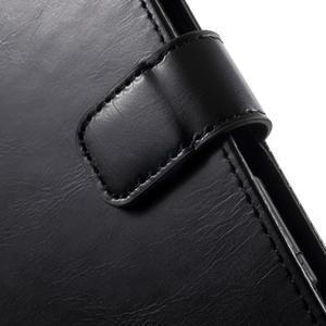 Moon PU kožené puzdro pre mobil Sony Xperia M4 Aqua - čierne - 7
