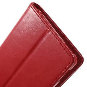 Moon PU kožené puzdro pre mobil Sony Xperia M4 Aqua - červené - 7