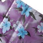 Květinkové pouzdro na mobil Sony Xperia M4 Aqua - fialové - 7/7