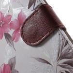 Květinkové pouzdro na mobil Sony Xperia M4 Aqua - bílé - 7/7