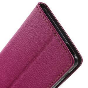 Leaf PU kožené pouzdro na mobil Sony Xperia M4 Aqua - rose - 7