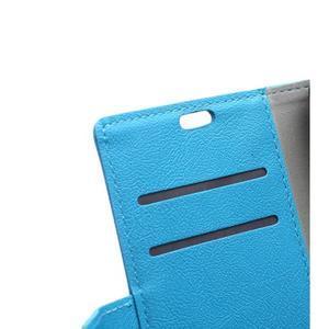 Grain koženkové pouzdro na Sony Xperia X - modré - 7