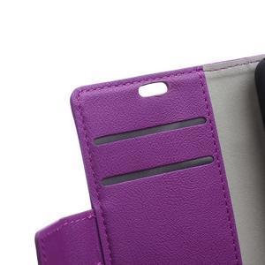 Grain koženkové pouzdro na Sony Xperia X - fialové - 7