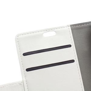 Horse PU kožené puzdro pre Sony Xperia X - biele - 7