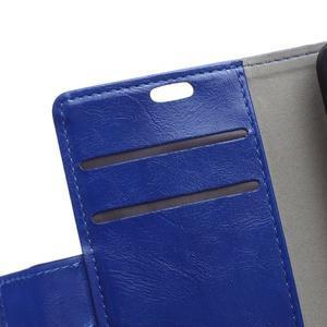 Horse PU kožené puzdro pre Sony Xperia X - modré - 7