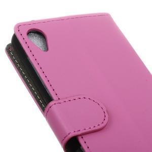 Walle Peňaženkové puzdro pre Sony Xperia X - ružové - 7