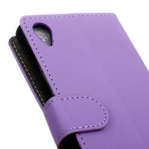Walle Peňaženkové puzdro pre Sony Xperia X - fialové - 7