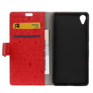 Cartoo Peňaženkové puzdro pre Sony Xperia X - červené - 7