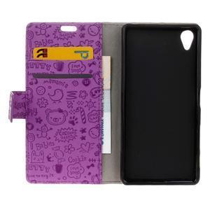 Cartoo peněženkové pouzdro na Sony Xperia X - fialové - 7